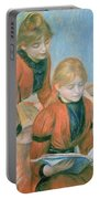 The Two Sisters Portable Battery Charger by Pierre Auguste Renoir