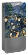 The Umbrellas Portable Battery Charger by Pierre Auguste Renoir