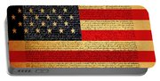 The United States Declaration Of Independence - American Flag - Square Portable Battery Charger