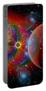 The Universe In A Perpetual State Portable Battery Charger by Mark Stevenson