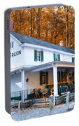 The Valley Green Inn In Autumn Portable Battery Charger