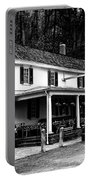 The Valley Green Inn In Black And White Portable Battery Charger