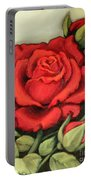 The Very Red Rose Portable Battery Charger