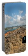 The View From Fort Rodney On Pigeon Island Gros Islet Caribbean Portable Battery Charger
