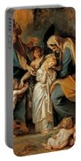 The Virgin Adorned With Flowers Portable Battery Charger