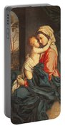 The Virgin And Child Embracing Portable Battery Charger by Giovanni Battista Salvi