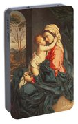 The Virgin And Child Embracing Portable Battery Charger