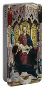 The Virgin And Child Enthroned With Angels And Saints Portable Battery Charger