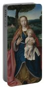 The Virgin And Child In A Landscape Portable Battery Charger