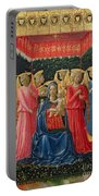 The Virgin And Child With Angels Portable Battery Charger