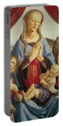 The Virgin And Child With Two Angels Portable Battery Charger