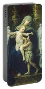 The Virgin Baby Jesus And Saint John The Baptist Portable Battery Charger