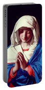 The Virgin In Prayer Portable Battery Charger by Il Sassoferrato