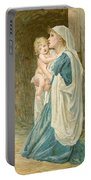The Virgin Mary With Jesus Portable Battery Charger