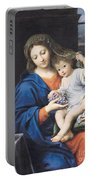 The Virgin Of The Grapes Portable Battery Charger by Pierre Mignard