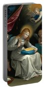 The Virgin Sewing Accompanied By Four Angels. La Couseuse Portable Battery Charger