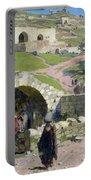 The Virgin Spring In Nazareth Portable Battery Charger