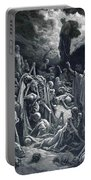 The Vision Of The Valley Of Dry Bones 1866 Portable Battery Charger