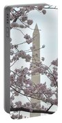 The Washington Monument At The Cherry Blossom Festival Portable Battery Charger