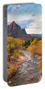 The Watchman At Sunrise Portable Battery Charger