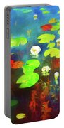 The Water Lily Pond Portable Battery Charger