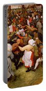 The Wedding Dance Portable Battery Charger by Pieter the Elder Bruegel