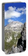 The Weissfluh At The Head Of The Haupter Talli Davos Graubunden Switzerland Portable Battery Charger