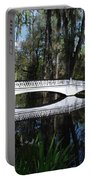 The White Bridge In Magnolia Gardens Charleston Portable Battery Charger