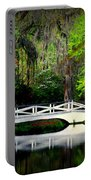 The White Bridge In Magnolia Gardens Sc Portable Battery Charger