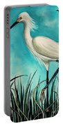 The White Egret Portable Battery Charger