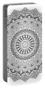 The White Mandala No. 3 Portable Battery Charger