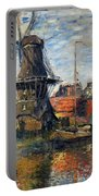 The Windmill Amsterdam Claude Monet 1874 Portable Battery Charger