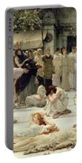 The Women Of Amphissa Portable Battery Charger by Sir Lawrence Alma-Tadema