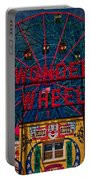 The Wonder Wheel At Luna Park Portable Battery Charger