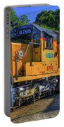 The Workhorse Squaw Creek Southern Rail Road Locomotive Art Portable Battery Charger