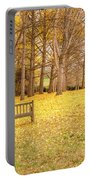 The Yellow Leaves Of Fall Carpet The Ground Of A Ginkgo Biloba Grove. Cm3 Portable Battery Charger
