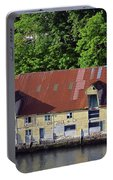 The 1905 Wooden Andreas Odfjell Warehouse On Bergen Harbor Portable Battery Charger