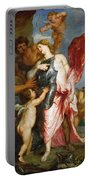 Thetis Receiving The Weapons Of Achilles From Hephaestus Portable Battery Charger