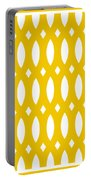 Thick Curved Trellis With Border In Mustard Portable Battery Charger