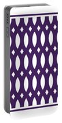 Thick Curved Trellis With Border In Purple Portable Battery Charger