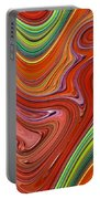 Thick Paint Orange Abstract Portable Battery Charger