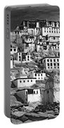 Thiksey Monastery - Paint Bw Portable Battery Charger