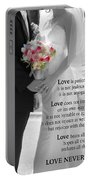 Things To Remember About Love - Black And White #3 Portable Battery Charger
