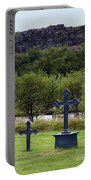 Thingvellir Church Cemetery, Iceland Portable Battery Charger