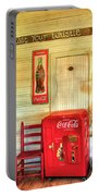 Thirst-quencher Old Coke Machine Portable Battery Charger
