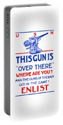 This Gun Is Over There - Usn Ww1 Portable Battery Charger