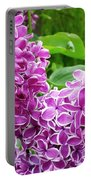 This Lilac Has Flowers With A White Edging.1 Portable Battery Charger