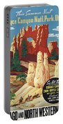 This Summer - Visit Bryce Canyon National Par, Utah, Usa - Retro Travel Poster - Vintage Poster Portable Battery Charger