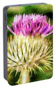 Thistle - The Flower Of Scotland Watercolour Effect. Portable Battery Charger