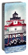 Thomas Point Shoal Lighthouse Annapolis Maryland Chesapeake Bay Light House Portable Battery Charger